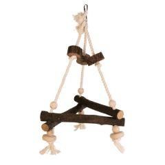 Pet Ting Triangular Wooden Rope Swing - Medium